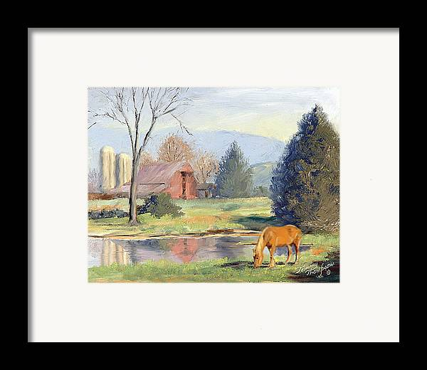 Landscape Framed Print featuring the painting Blondes Have More Fun by Tommy Thompson