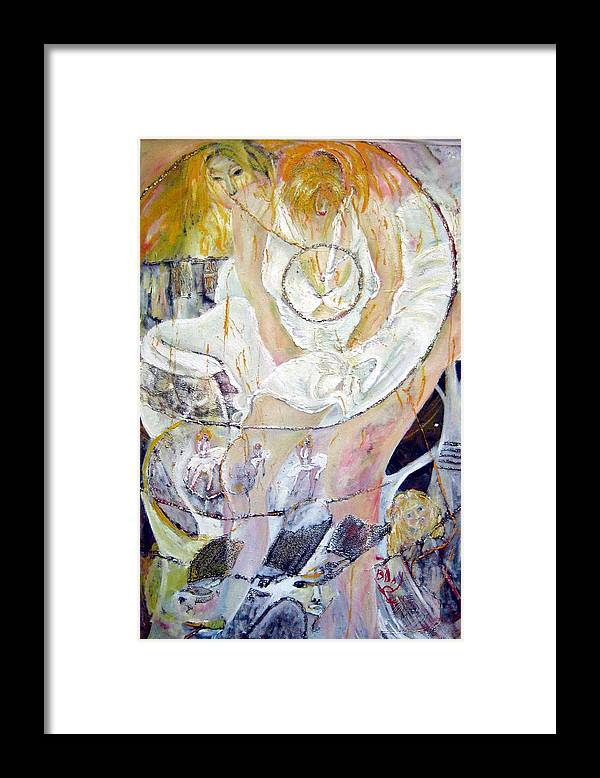 Figurative Framed Print featuring the painting Blondie  by Peggy Blood
