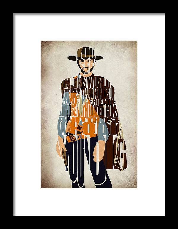 Blondie Framed Print featuring the digital art Blondie Poster From The Good The Bad And The Ugly by Inspirowl Design