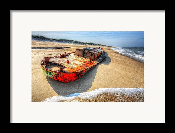Outer Banks Framed Print featuring the photograph Blood And Guts I - Outer Banks by Dan Carmichael