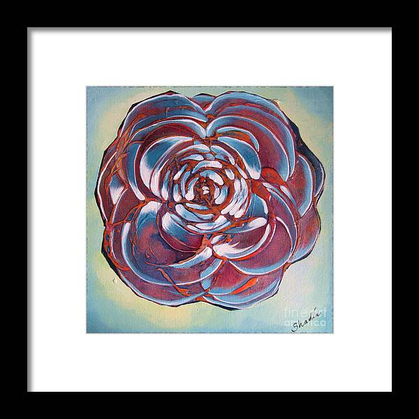 Bloom Framed Print featuring the painting Bloom II by Shadia Derbyshire