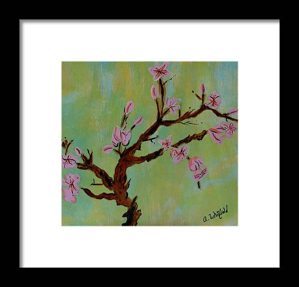 Flowers Framed Print featuring the painting Blooming by Ann Whitfield
