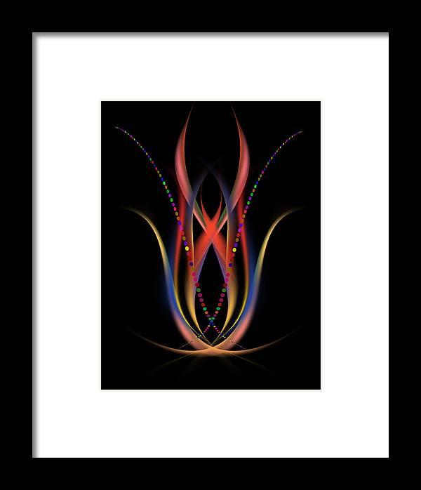Abstract Digital Design Framed Print featuring the painting Blooming Digital Artwork by Georgeta Blanaru