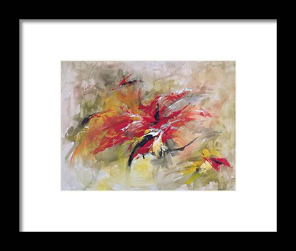 Art Framed Print featuring the painting Blooming In Paradise by Jany Cao Noceti