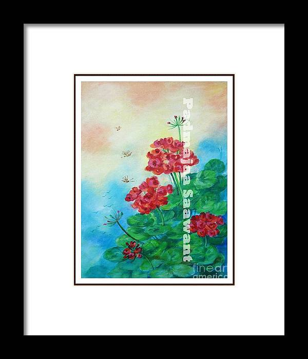 Framed Print featuring the painting Bloosom 2 by Nalini Sawant