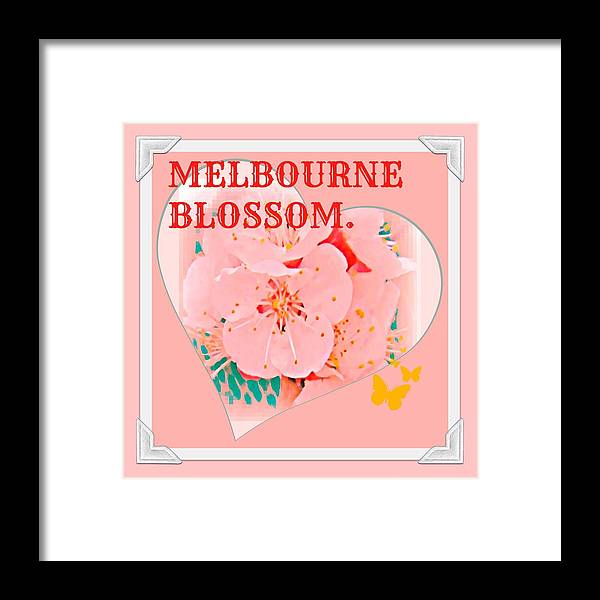 Melbourne Framed Print featuring the digital art Blossom In Melbourne by Meiers Daniel