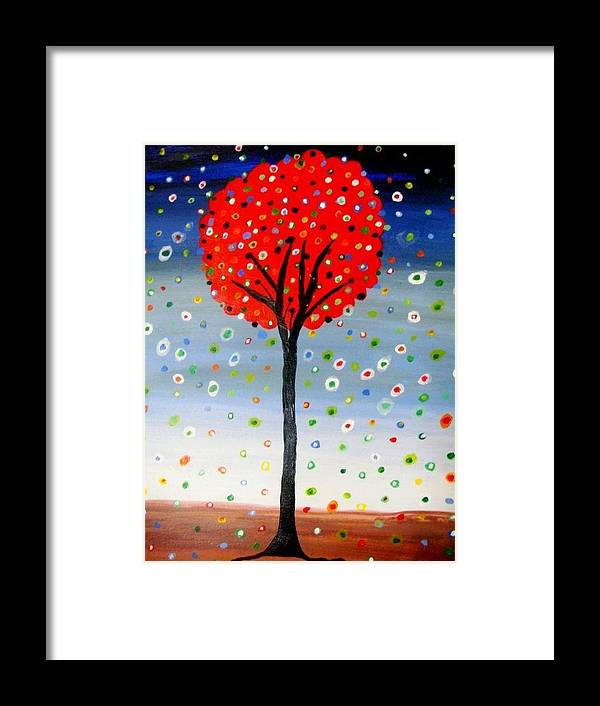Flowers Framed Print featuring the painting Blossom by Maya Sinnathamby