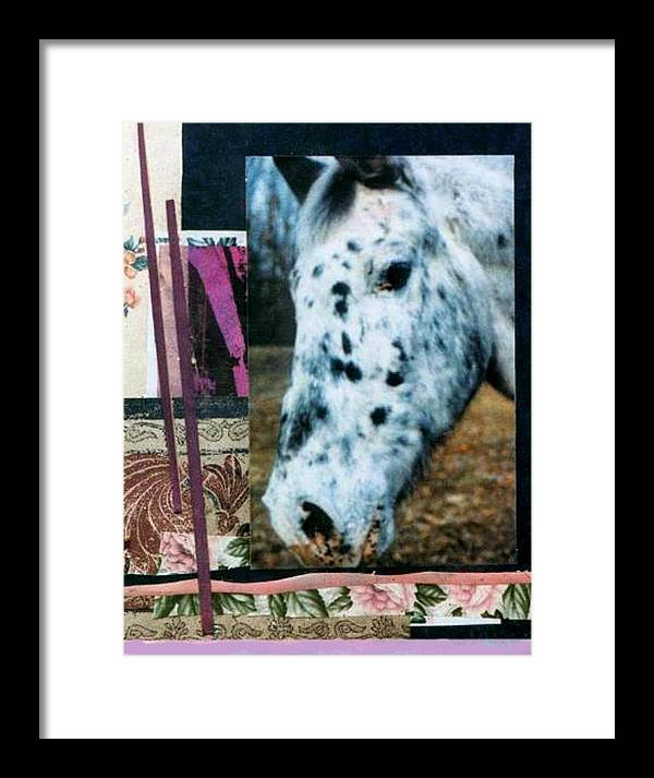 Horse Framed Print featuring the mixed media Blotter by Mary Ann Leitch