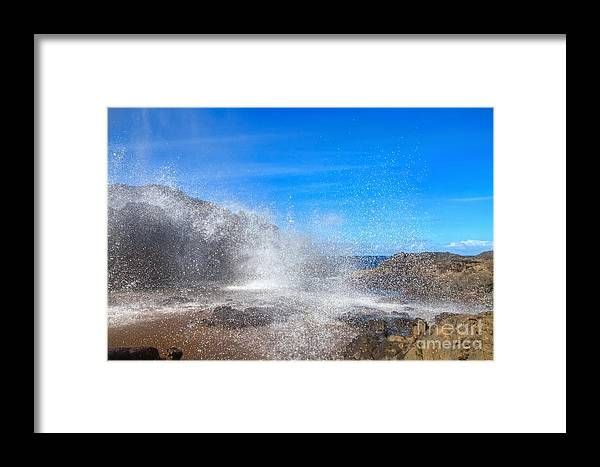 Nakalele Blowhole Framed Print featuring the photograph Blow Hole Blow Out by James Anderson