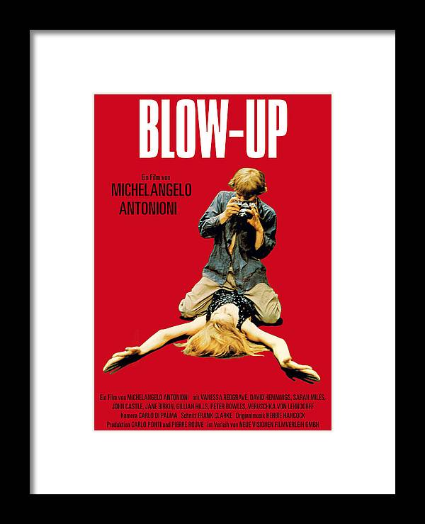 Blow Up 1966 Framed Print By Georgia Fowler