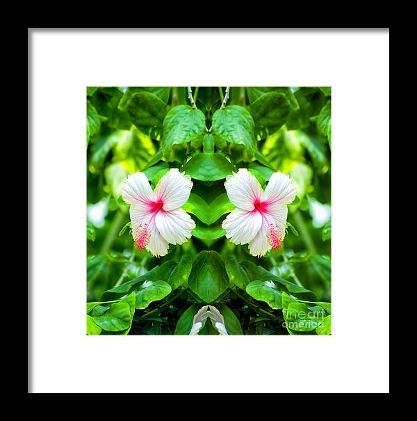 Mirror Image Framed Print featuring the photograph Blowing In The Breeze Mirror Image by Thomas Woolworth