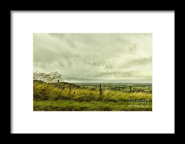 Field Framed Print featuring the photograph Blowing In The Wind by Margie Hurwich