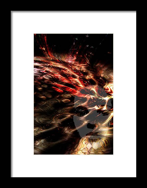 Abstract Framed Print featuring the digital art Blowing On The Furnace Of The Imagination by Richard Thomas