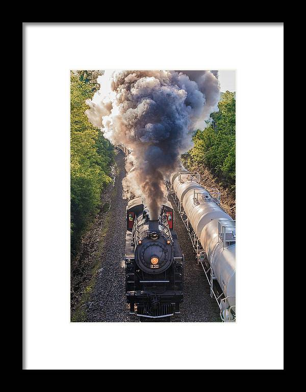 Train Framed Print featuring the photograph Blowing Smoke by Keith Allen