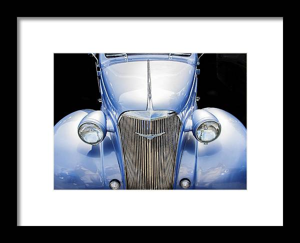 Chevy Framed Print featuring the photograph Blue 1937 Chevy Too by Rich Franco