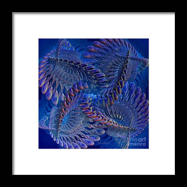 3d Framed Print featuring the digital art Blue 3 by Deborah Benoit