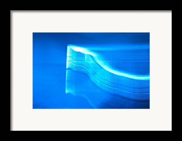 Blue Framed Print featuring the photograph Blue Abstract 3 by Mark Weaver