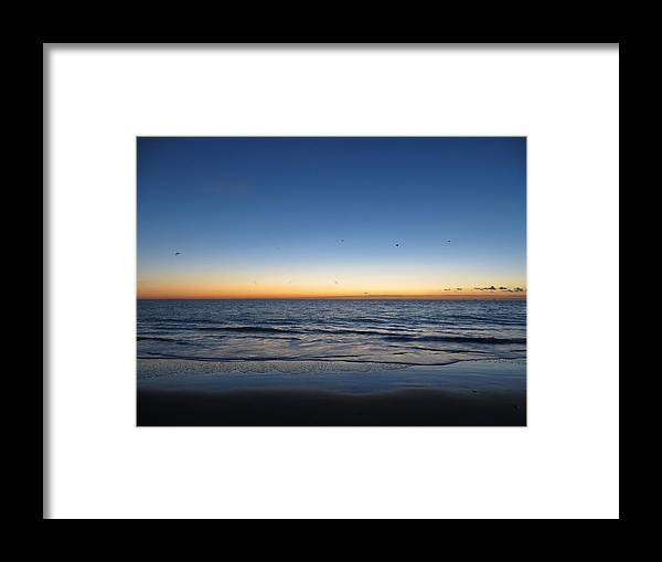 Blue Framed Print featuring the photograph Blue And Orange Sky by Julia Hoefer-von Seelen