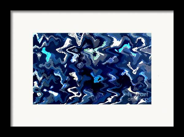 Blue And Turquoise Abstract Framed Print featuring the photograph Blue And Turquoise Abstract by Carol Groenen