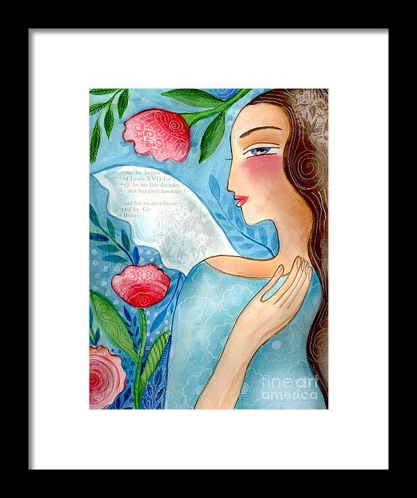Angel Framed Print featuring the mixed media Blue Angel by Elaine Jackson