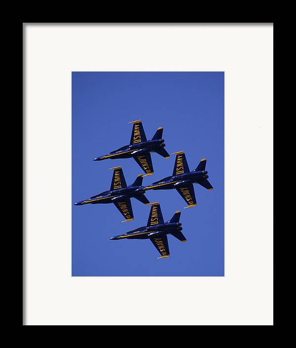 Airshows Framed Print featuring the photograph Blue Angels by Bill Gallagher