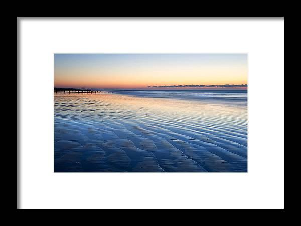 Beach Framed Print featuring the photograph Blue Beach by Matthew Gibson