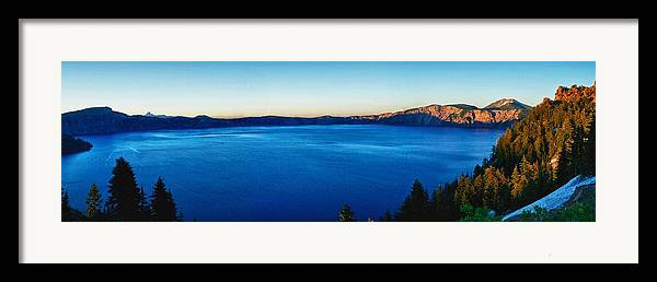Crater Lake Framed Print featuring the photograph Blue Blue Blue by Rob Wilson