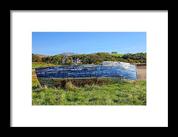 Boat Framed Print featuring the photograph Blue Boat by Paul Williams