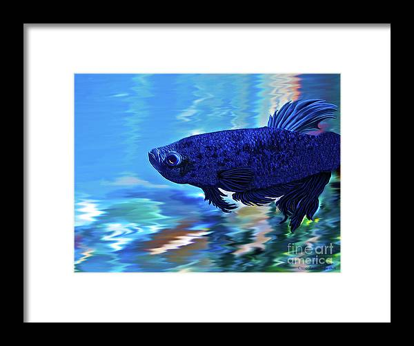 Fine Art Photography Framed Print featuring the painting Blue Boy by Patricia Griffin Brett