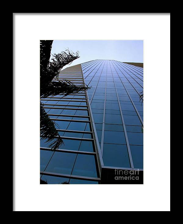 Business City Skyscraper Building Architecture Blue Framed Print featuring the photograph Blue Business by AR Annahita