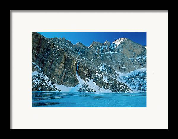 Landscapes Framed Print featuring the photograph Blue Chasm by Eric Glaser