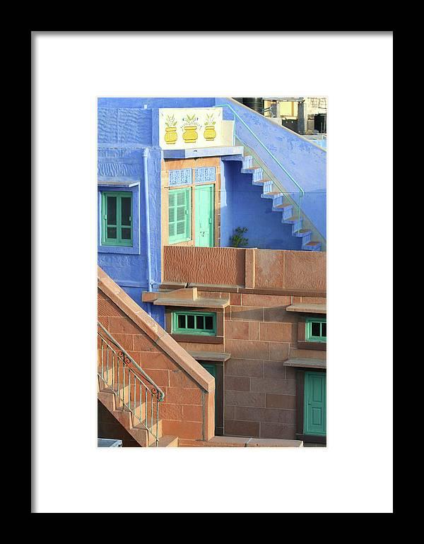Blue Framed Print featuring the photograph Blue City, Jodhpur, India by Jolly Sienda