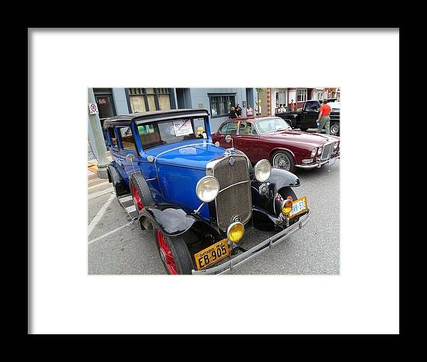 Car Framed Print featuring the photograph Blue Classic by Lingfai Leung