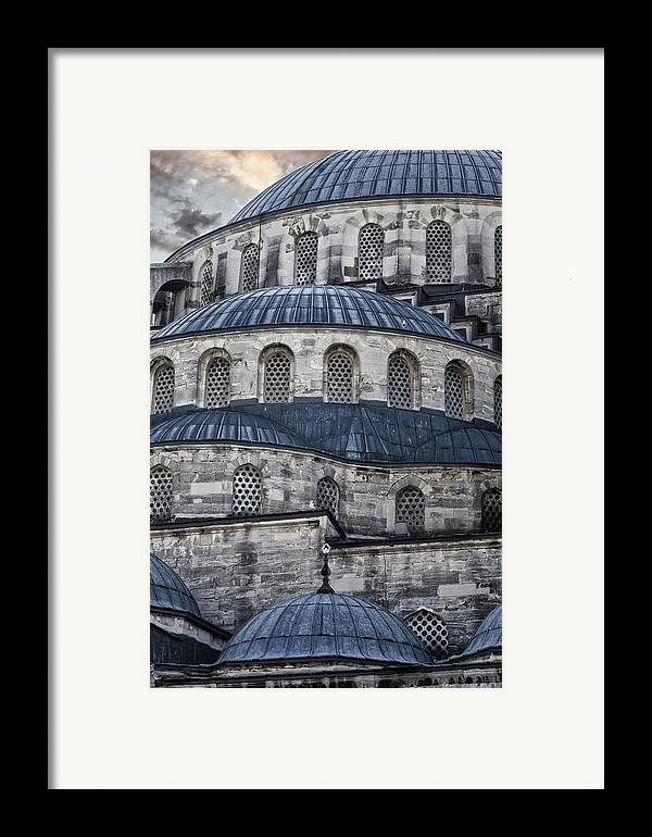 Blue Mosque Framed Print featuring the photograph Blue Dawn Blue Mosque by Joan Carroll