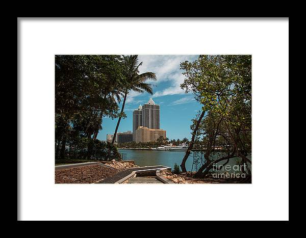 Miami Beach Framed Print featuring the photograph Blue Diamond Condos Miami Beach by Rene Triay Photography