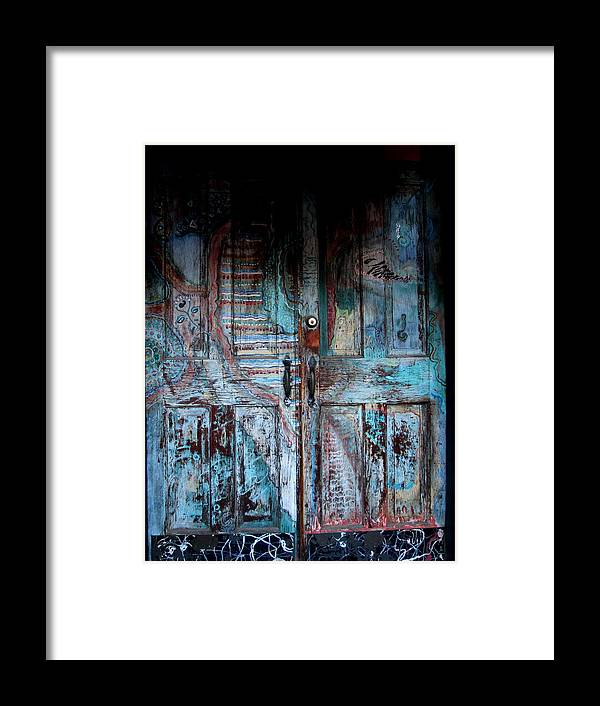 Door Framed Print featuring the photograph Blue Door by Monte Landis