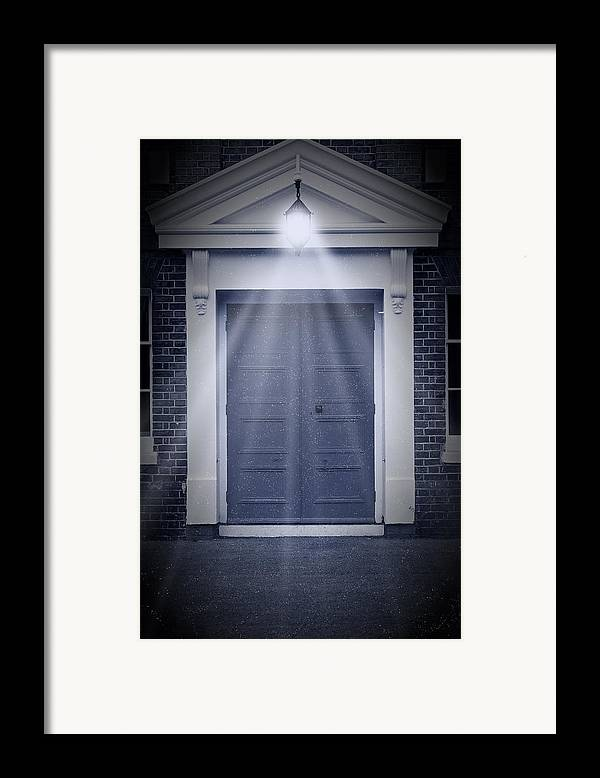 Apartment Framed Print featuring the photograph Blue Door by Svetlana Sewell