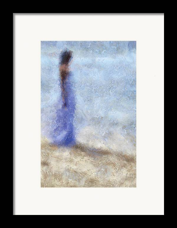 Impressionism Framed Print featuring the photograph Blue Dream. Impressionism by Jenny Rainbow