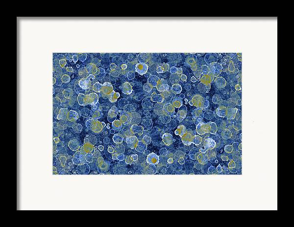 Blue Drip Framed Print featuring the painting Blue Drip by Frank Tschakert