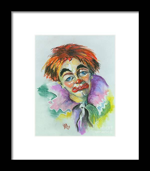 Canvas Print Framed Print featuring the painting Blue Eyes by Elisabeta Hermann