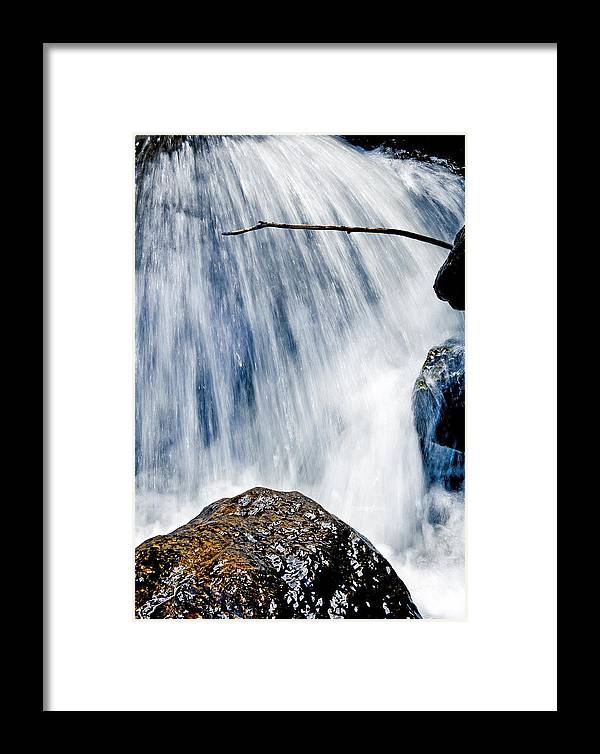 Water Framed Print featuring the photograph Blue Falls #1 by Patrick Derickson