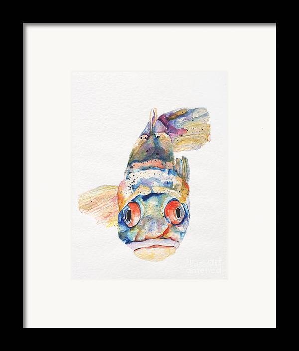 Pat Saunders-white Framed Print featuring the painting Blue Fish  by Pat Saunders-White