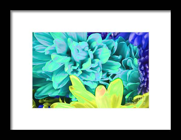 Flower Framed Print featuring the photograph Blue Flower by LLaura Burge