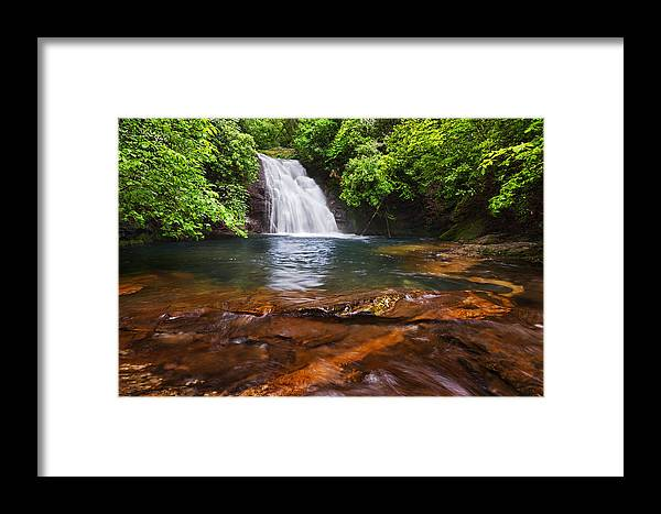 Blue Framed Print featuring the photograph Blue Hole Falls by Alex Mironyuk