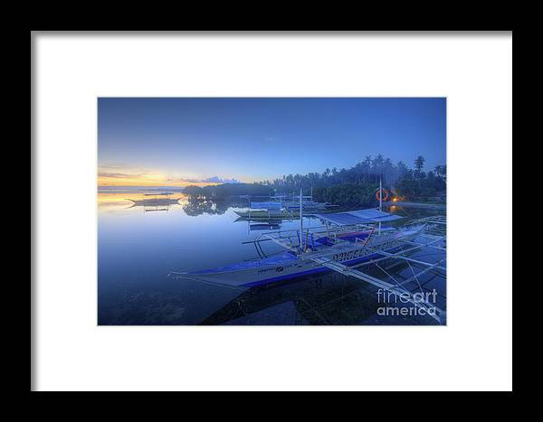 Yhun Suarez Framed Print featuring the photograph Blue Hour At Panglao Port by Yhun Suarez