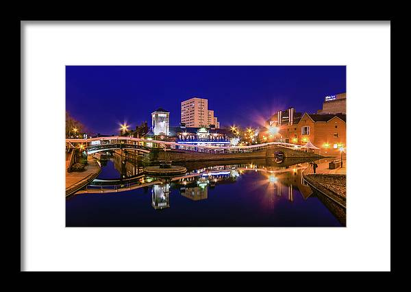 Birmingham Framed Print featuring the photograph Blue Hour In Birmingham by Fiona Mcallister Photography