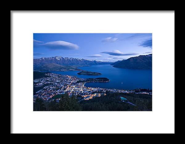 Queenstown Framed Print featuring the photograph Blue Hour In Queenstown by Ng Hock How