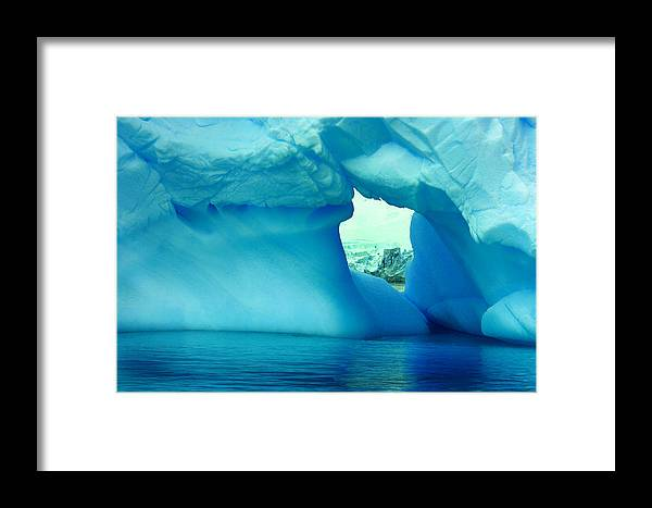 Icebergs Framed Print featuring the photograph Blue Iceberg Antarctica by Amanda Stadther