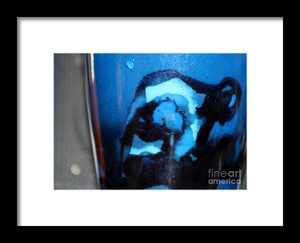 Abstract Framed Print featuring the photograph Blue Instant by Karen Adams