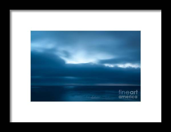 Ocean Framed Print featuring the photograph Blue by Jennifer Magallon